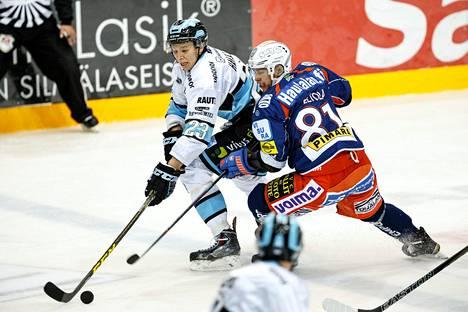 Jukka Peltola pelaa hyvää kautta Tapparan paidassa.