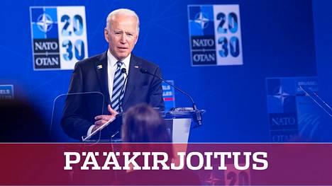 Presidentti Joe Biden matkusti Geneveen Naton huippukokouksesta, joka pidettiin maanantaina Brysselissä.