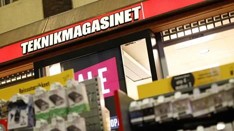 Teknikmagasinet on ollut vaikeuksissa jo pitkään Ruotsissa. Kuva Helsingin rautatieasemalla sijaitsevasta myymälästä.