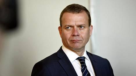 Oppositiopuolue kokoomuksen puheenjohtaja Petteri Orpo kommentoi hallitukselle jätettävää välikysymystä koskevassa tiedotustilaisuudessa eduskunnassa Helsingissä 20. syyskuuta 2019.