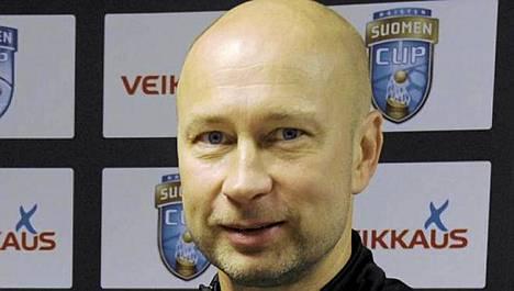 KuPS-luotsi Esa Pekonen ei peitellyt tuntemuksiaan Inter-voiton jälkeen.