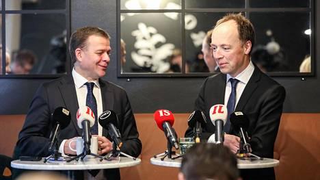 Petteri Orpo (kok) ja Jussi Halla-aho (ps) arkistokuvassa.