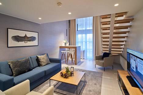 Naantalin Kylpylä uusi voittonsa, sillä se palkittiin samassa kilpailussa parhaana hotellina myös viime vuonna. Kuvassa Nordic-sviitti.