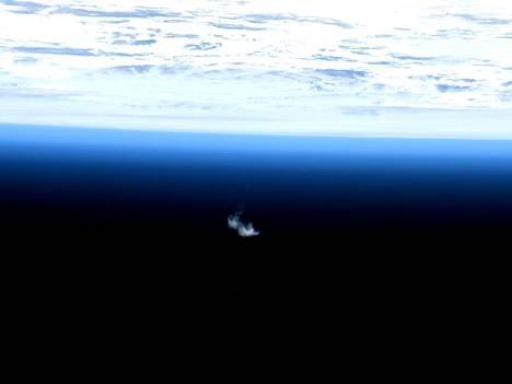 Arkistokuva Euroopan viimeisestä ATV-rahtialuksesta. Se palveli ISS:ää pitkälti samalla tavalla kuin lukuisat Venäjän Progress-alukset.