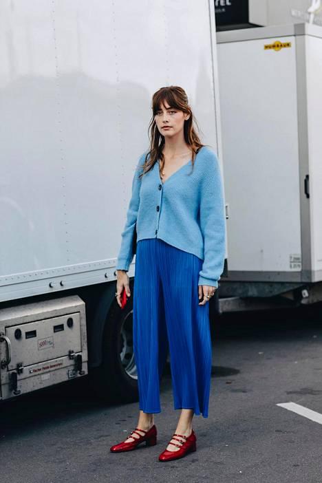 """Hameen sininen on perinteinen mutta myös kirkas sinisen sävy """"french blue""""."""