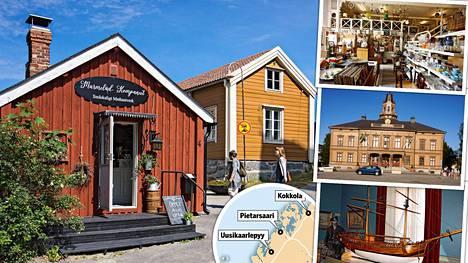 Uusikaarlepyy, Pietarsaari ja Kokkola hieman Vaasasta pohjoiseen tarjoavat matkailijalle monenlaista kiinnostavaa.