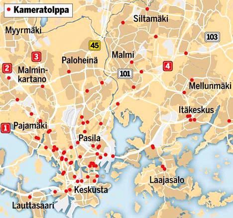 Ilta-Sanomat julkaisi suunnitelman pohjalta kartan uusista valvontapisteistä marraskuussa 2018. Tavoitteena on, että vuosina 2020–2024 peltipoliiseja asennetaan 14 kappaletta vuodessa, kaikkiaan mahdollisesti 70.