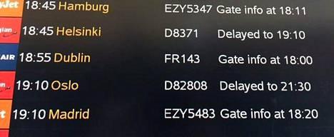 Monella matkustajalle tällainen näky on valitettavan tuttu lentoasemalta. Lento on myöhässä tai jopa peruttu.
