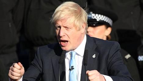 Pääministeri Boris Johnson puhui West Yorkshiressä 5. syyskuuta 2019.
