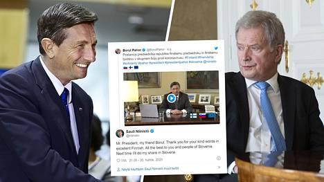 Presidentti Borut Pahor yllätti tasavallan presidentti Sauli Niinistön ja suomalaiset puhumalla selvää suomea.