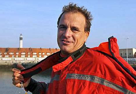 Stephane Rousson oli optimistinen ennen yritystään Calaisin satamassa.