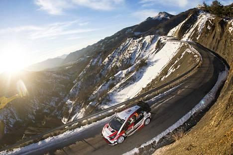 Monte Carlon rallissa Jari-Matti Latvala sai kilpailla tutuilla vuoristoteillä.