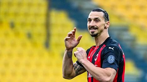 Zlatan Ibrahimovic pelaa AC Milanissa.
