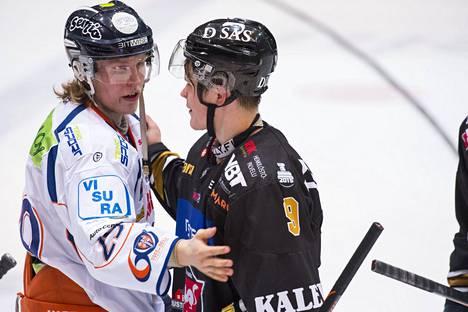 Patrik Laineen ja Jesse Puljujärven NHL-urat ovat kulkeneet eri suuntiin. Kuvassa nuorukaiset ovat vielä SM-liigan jäillä.