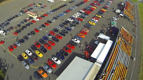 Porsche Club Finland on vieraillut myös Alastaron moottoriradalla.