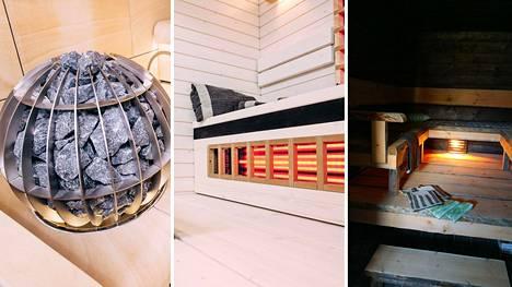 4 asuntomessujen saunaa: yksi kuin mökillä, toinen täynnä teknologiaa