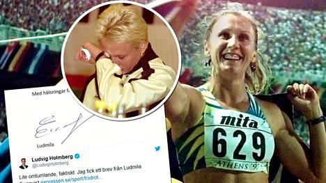 Olympiavoittaja ja kaksinkertainen maailmanmestari Ludmila Engquist kyynelehti tiedotustilaisuudessa heinäkuussa 2000, kun hän ilmoitti päättävänsä urheilu-uransa. Nyt hän lähetti kirjeen Expressenille, jossa kommentoi tuoreita dopingtietoja.