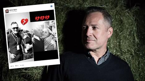 Marko Björs tutustui Minna Kemppaiseen jo teini-ikäisenä. Björs suree hyvän ystävänsä kuolemaa.