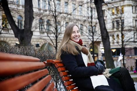 Toimittaja ja kirjailija Anu Partanen kuvattuna Helsingissä tammikuussa 2017.