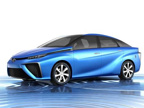 Toyotan konseptikuva polttokennoautosta.