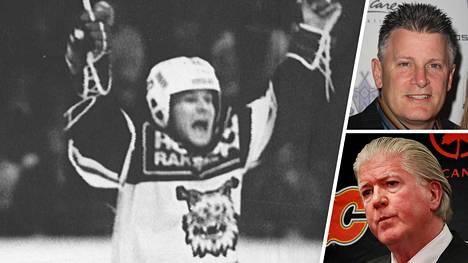 Raimo Summanen (vas.) joutui Brian Burken (oikealla alhaalla) ja Marc Crawfordin hampaisiin Pohjois-Amerikassa.