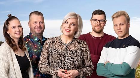 Stiina, Matti, Kalle ja Patrik valitsivat neljä puolisoehdokasta jatkoon.