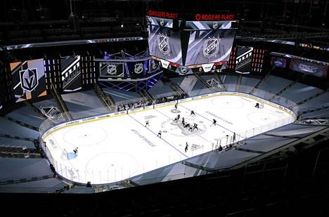 Areenat ovat saaneet uuden ilmeen käynnistyvään Stanley Cup -turnaukseen.