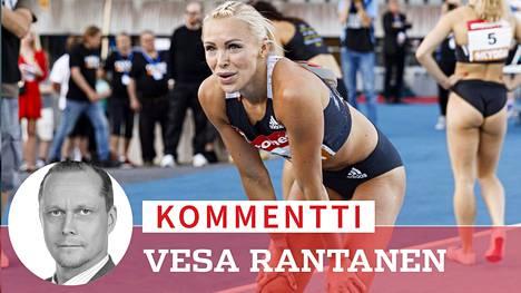 Annimari Korte on tällä hetkellä Suomen valovoimaisin ja äänekkäin yleisurheilija.
