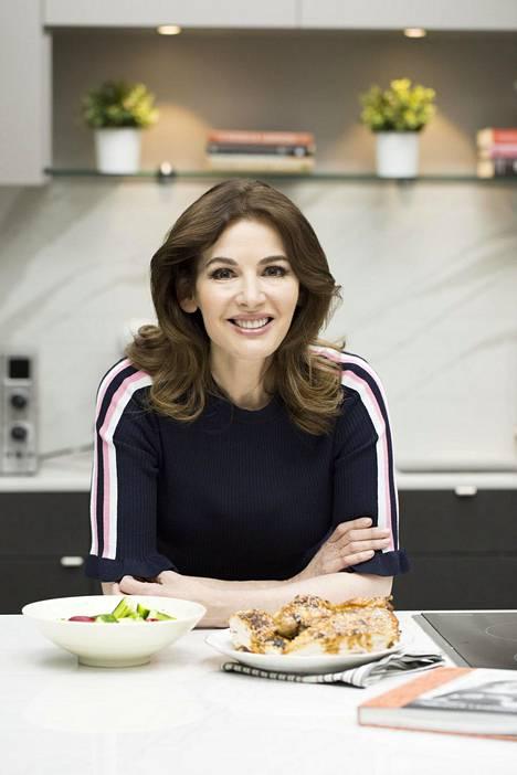 Nigella Lawson on yksi maailman suosituimpia tv-kokkeja. Kuva vuodelta 2018.