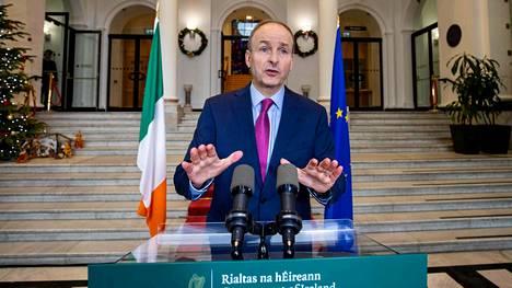 Irlannin pääministeri Micheal Martin kertoi huolestuttavia tietoja uudesta koronavirusmuunnoksesta.