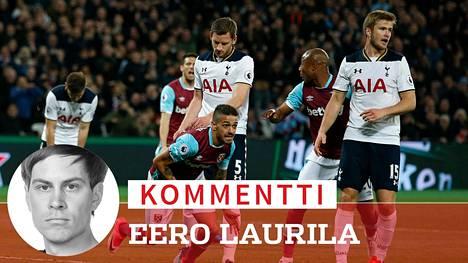 Manuel Lanzinin maali upotti Tottenhamin.