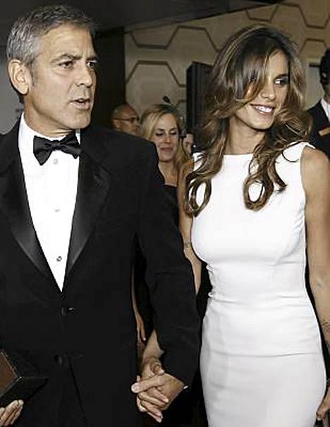 George Clooney ja Elisabetta Canalis Los Angelesissa elokuun lopussa.