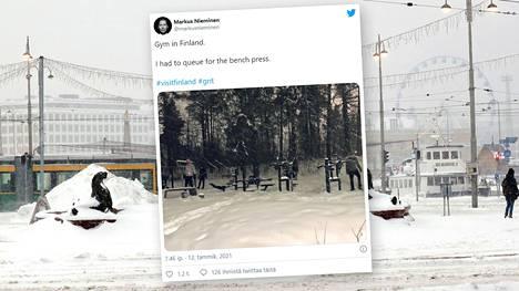 Eteläiseen Suomeen on tupruttanut runsaasti lunta.