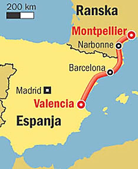 Ultrajuoksu etenee Etelä-Ranskasta Espanjan Valenciaan saakka