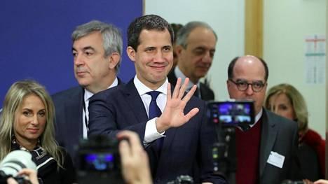 Venezuelan oppositiojohtaja Juan Guaido Brysselissä tammikuussa.