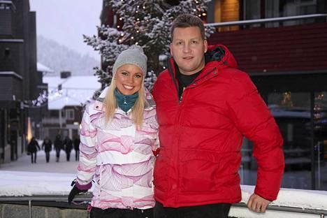 Jani ja Mari Levin talvikauden avajaisissa 9. marraskuuta 2013.