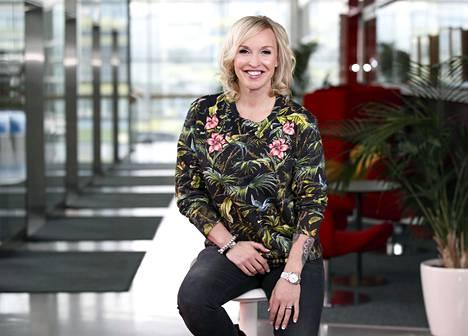 Jutta Gustafsberg on nykyään tunnettu tv-kasvo ja liikunta-alan moniosaaja.