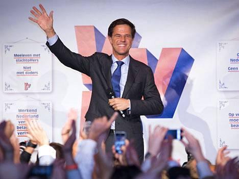 Pääministeri Mark Rutten liberaalit säilyttivät suurimman puolueen paikan Hollannissa.