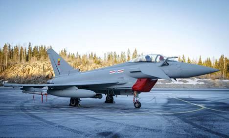 Eurofighter Typhoonin esittelypäivä Tampere-Pirkkallan lentokentällä 10. tammikuuta 2020.