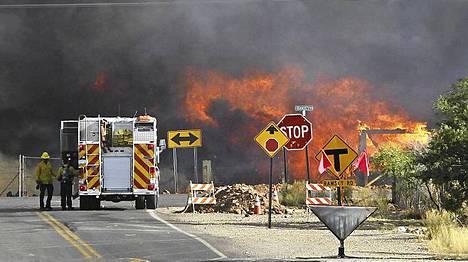Arizonan ja New Mexicon rajalla riehuva metsäpalo vei mennessään tämän kodin lähellä Sierra Vistan kaupunkia.