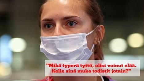 Puolasta turvapaikan saanut Valko-Venäjän pikajuoksija Krystsina Tsimanouskaja joutui maansa urheilupomojen puhutteluun. Kylmäävä nauha vuoti julkisuuteen.