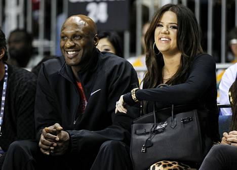 Lamar Odom ja Khloé Kardashian olivat neljä vuotta naimisissa. Parin ero ei ole vielä lainvoimainen.
