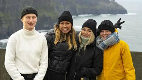 Tässä ovat uudet au pairit! Igi, Luna, Nea ja Ada lähtivät Irlantiin hoitamaan lapsia keskellä koronapandemiaa.