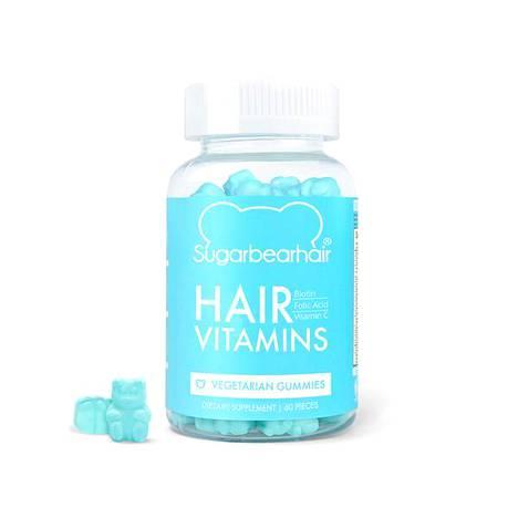 E-vitamiinia voi nappailla myös purkista. Sugarbearhairin lisäravinteet on tarkoitettu nimenomaan hiusten vahvistamiseen, 37 € / 60 kpl.
