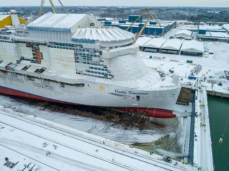 Alus on tarkoitus luovuttaa tämän vuoden lokakuussa.