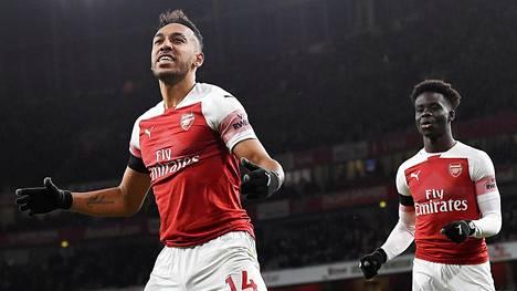 Pierre-Emerick Aubameyang laukoi Arsenalin 4–1-maalin.