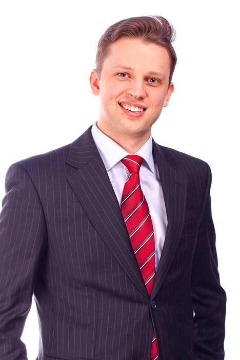 Ruotsala on entinen Kristillisdemokraattisen nuorisojärjestön puheenjohtaja. Kuva vuodelta 2012.