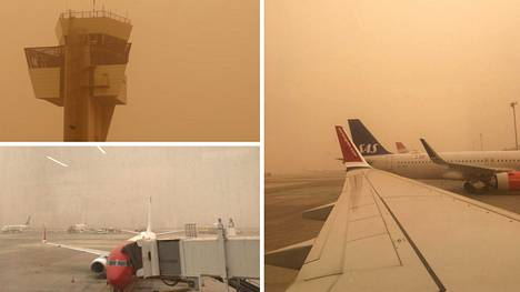 Afrikasta noussut hiekkamyrsky on sekoittanut Kanarian saarten lentoliikenteen.