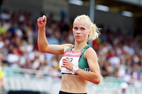Alisa Vainio voitti Suomen mestaruuden 10 000 metrin juoksussa Kalevan kisoissa Jyväskylässä.