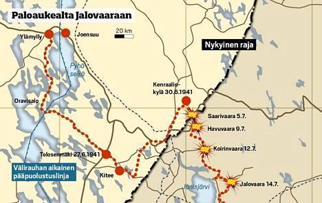 Tuntemattoman rykmentti JR 8 on Divisioonansa etujoukkoa. Se aloittaa etenemisen rajan yli viisi päivää ennen kuin Karjalan Armeijan aloitaa päähyökkäyksen.